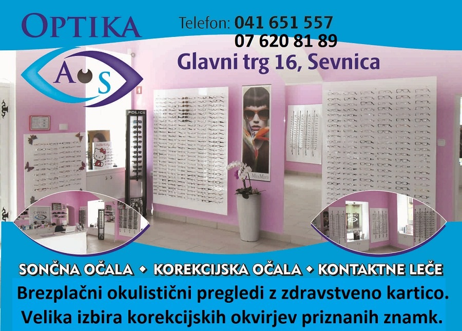 Optika AS, okulistični pregledi in očala